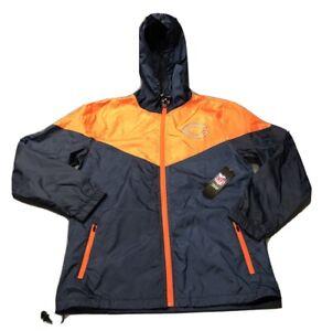 NFL Team Apparel Chicago Bears Full Zip Hooded Jacket (S, Navy Blue)MSRP $105