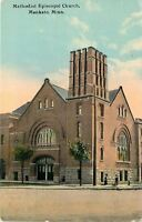 Mankato Minnesota~United Methodist Episcopal~Grid-Like Belltower~c1910 Postcard