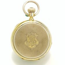 Unusual 20-Size Hunter Case Chronograph, Jump ¼-Second, Hack Center Pocket Watch