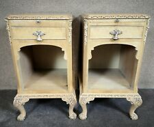 Pair of Bleached Walnut Bedside Cupboards