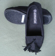Ameta Lady Women Comfy Casual Slip On Winter Slippers Black In/Outdoor Shoes Sz8