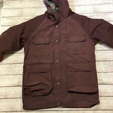 Woolrich Vintage USA Wool Lined Zip Hooded Parka Jacket  Mens Medium 80's