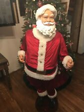 GEMMY Animated SANTA 5 FT NO Adapter/Microphone SELLING FOR PARTS/REPAIR ONLY