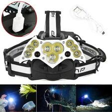 300000LM Garberiel 11x T6 LED Headlamp USB Rechargeable 18650 Headlight Torch US