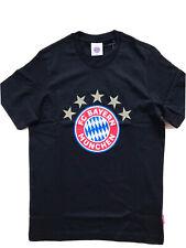 T - Shirt 5 Sterne Logo FC Bayern München schwarz Größe S - 3 XL