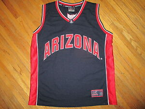 ARIZONA WILDCATS 22 BASKETBALL JERSEY Sewn Stitched Embroidered Black Red Men XL