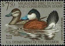 "Rw#48 1981 $7.50 ""Ruddy Ducks"" Duck Stamp Mint-Og/Nh"