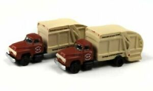 Classic Metal Works N Scale '54 Ford GarbageTruck Harrisburg 2pk   50407 BTTG