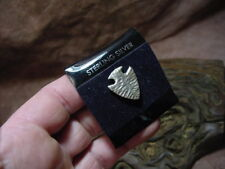 SNYDER solid silver hat pin tie tac PALEO lover woodland caveman spear point