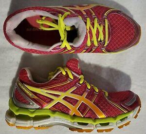 Asics Women's Size 7 Gel Kayano 19 Raspberry / Pink Mesh Running Shoes T350N EUC