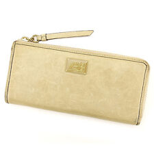 Coach Wallet Purse Long Wallet Beige Gold Woman Authentic Used A1467