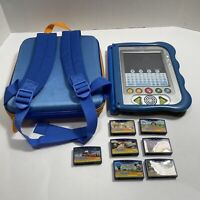 VTECH V.Reader Animated E-book System with 7 Cartridges/games and Backpack Works