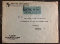 1937 Lorenzo Marquez Mozambique Airmail cover To Hamburg Germany