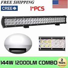 22Inch 144W CREE LED Light Bar SPOT FLOOD COMBO Offroad Jeep Truck UTE 4WD Lamp