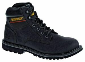 Caterpillar CAT Leather Safety Boots Steel Toe Black Size 11