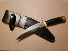 VIKING KNIVES James Jim Ericksen WHARNCLIFFE FIGHTER Knife Black Micarta Sheath