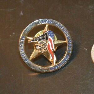 LAW ENFORCEMENT TORCH RUN ILLINOIS 2002  PINBACK LAPEL PIN