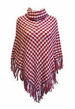 Onorevoli Knitwear-Nuova Cappuccio Collo Morbido Inverno Poncho * UK pro-seller * SPEDIZIONE VELOCE *