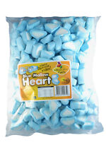 Marshmallow Heart Blue White 1kg Party Lolly Candy Buffet Girl Baby Shower Jar