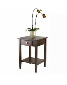 Winsome Richmond End Table in Antique Walnut BRAND NEW IN BOX