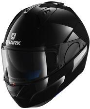 SHARK EVO ONE BLANK BLK GLOSS BLACK MOTORCYCLE HELMET - X-LARGE (XL)