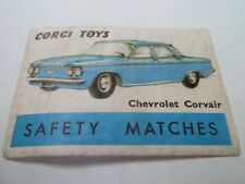 Allumette - CHEVROLET CORVAIR - CORGI TOYS - SAFETY MATCHES - BELGIQUE - (79)