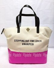 Kate Spade WKRU2226 Call To Action Terry Tote Stepping Out For Lunch Mani Pedi