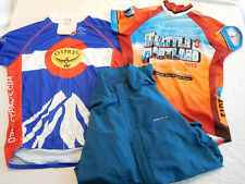 Lot of 3 Cycling Jersey Jacket Seattle Portland Colorado Novara Osprey Medium M