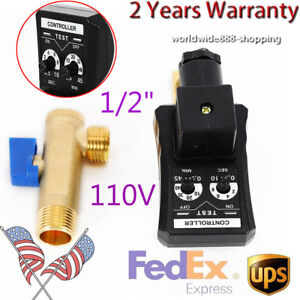 Auto Automatic Timed Electronic Drain Valve For Air Compressor Water Tank 1/2''