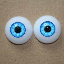 Newborn Baby Doll Eyeball 22mm Half Round Acrylic doll Eyes Blue for Reborn Baby