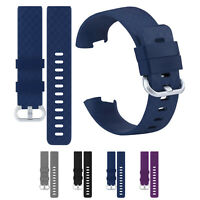 For Fitbit Charge 3 Wrist Strap Soft Silicone Watch Replacement Wristband