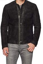 New JOHN VARVATOS Black Goat Suede Bomber Jacket Size XXL $698