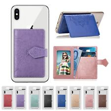 For Cell Phone Universal ID Credit Card Holder Cash Pocket Stick On Wallet Case