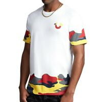 True Religion Men's Camo Tipped Tee T-Shirt in White