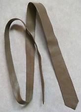 Slim Jim Flaco MOD REVIVAL corbata Real Cuero Década de 1970 década de 1980 marrón pálido extremo 4cm