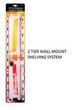 2 Tier Shelving System DIY Shelve Shelf Rack Bracket