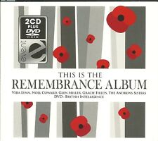 IS THE REMEMBRANCE ALBUM 2 CDs VERA LYNN GLEN MILLER + BRITISH INTELLIGENCE DVD