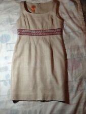 Tory burch tan/beaded waisted womens sleeveless dress size 8/10?