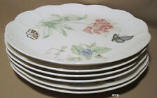 "Lenox Butterfly Meadow Lot of 6 Dinner Plates 11"" EXCELLENT!"