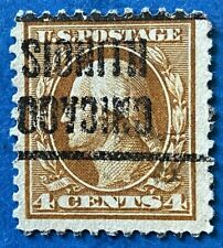 US Sc 503 4c Washington F/VF Perf 11 PRECANCEL CHICAGO IL 1916