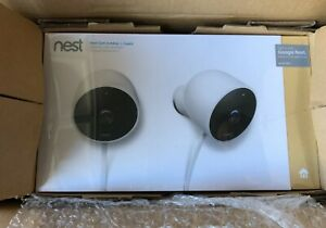 NEW Google Nest Camera Outdoor Security Camera 2 Pack. Factory Sealed Box!
