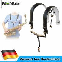 Universal Verlängerter  Saxophon Schulter Gurt 44cm Echtes Leder ohne Stress