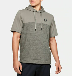 Under Armour Men's Sportstyle Pullover Hoodie Short Sleeve Size L Gravity Green