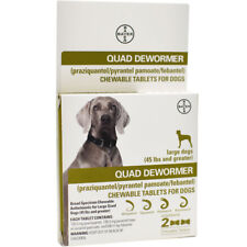 Bayer Quad Dewormer For Large Dogs 45 Pounds Or Greater - Exp 9/2019