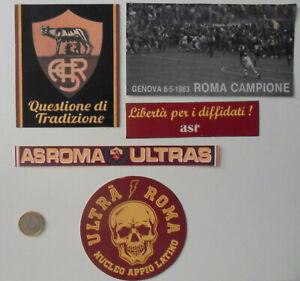 5 adesivi stickers pegatinas aufklebern ASR ULTRAS CURVA SUD ROMA misti