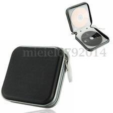 40 Disc Double-side CD DVD Storage Case Organizer Holder Hard Wallet Album Black