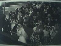 postcard size r/p old undated wedding sailor bride front view church