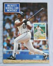 January 1991 Becket Baseball Monthly Cecil Fielder Detroit Tigers