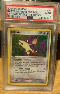 Rattata EX Team Rocket Returns Reverse Holo 71/109 PSA 9 Mint POP 8 Pokemon 2004