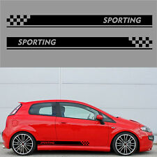fasce adesive auto stickers tuning strisce fiancate laterali racing abarth a0343